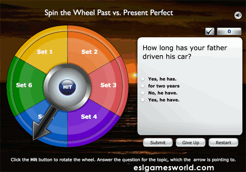 Past simple VS Present Perfect online game