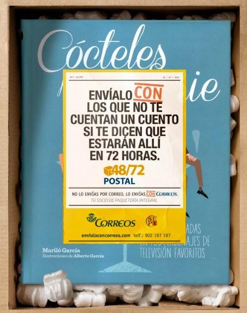 http://www.coctelesfueradeserie.com/2013/12/El-libro-Cocteles-fuera-de-serie-protagoniza-el-anuncio-de-Navidad-de-Correos.html