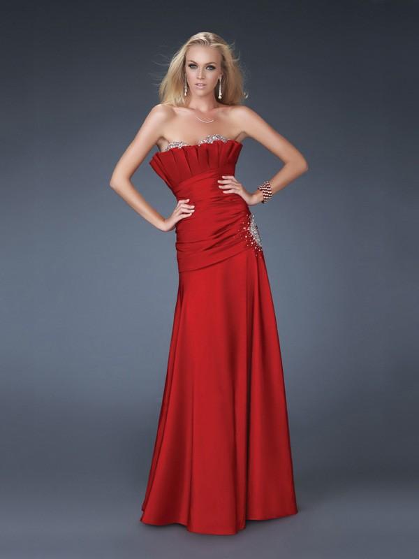 DressyBridal: 5 Amazing Red Strapless Prom Dresses——Glow ...