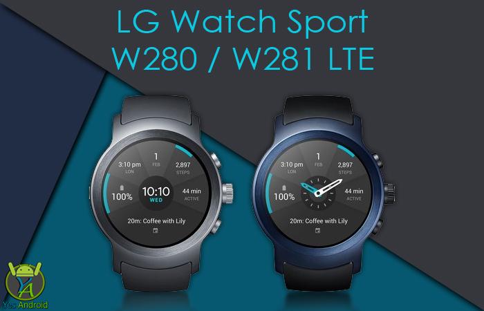 LG W280 Watch Sport LTE / W281 Full Specs Datasheet
