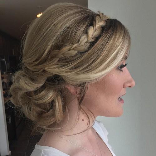 comfortable braided headband hairstyles