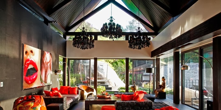 Living room in an Amazing contemporary Villa Yin in Phuket
