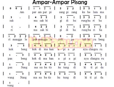 Lirik Lagu Ampar - Ampar Pisang - Kalimantan Selatan