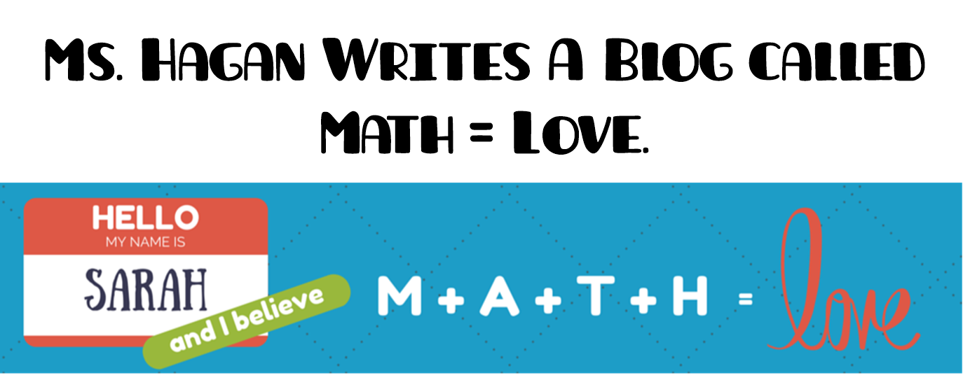 Math = Love: First Day of School!