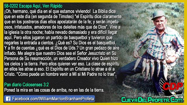 Su Dios es el basquetbol - Citas William Branham Mensajes