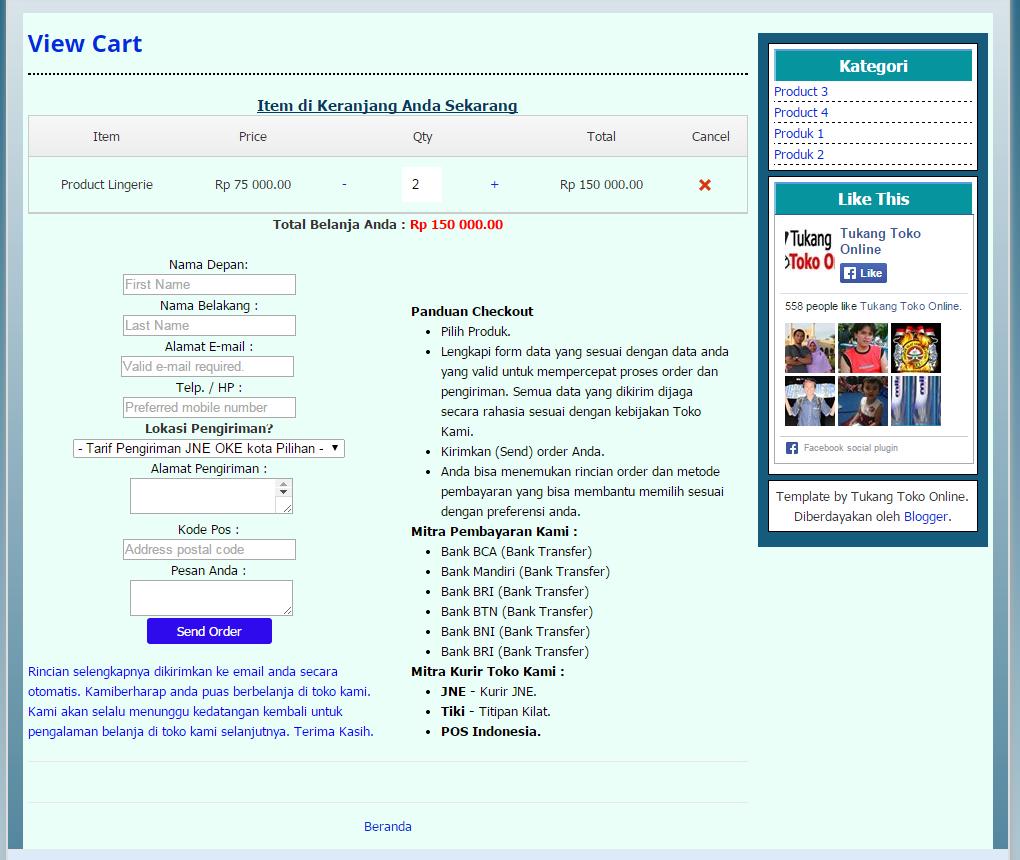 checkout page blutemp v2