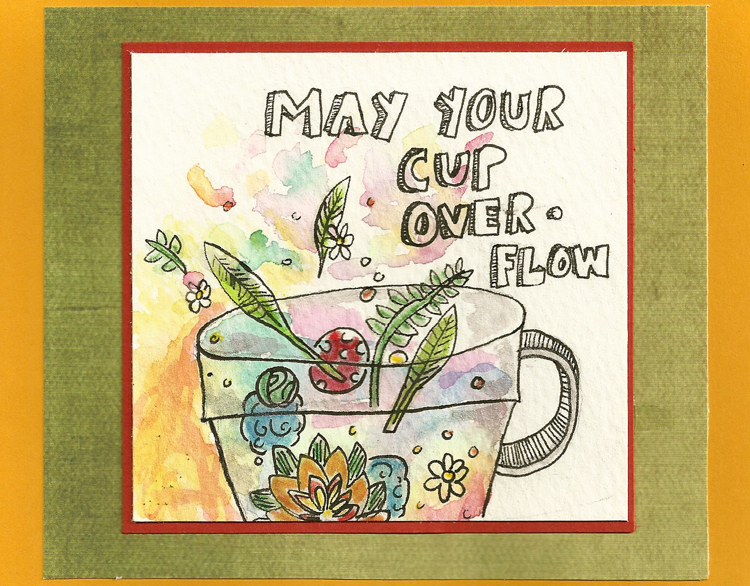 Debbie Dots Greeting Card Blog Full Cup Birthday