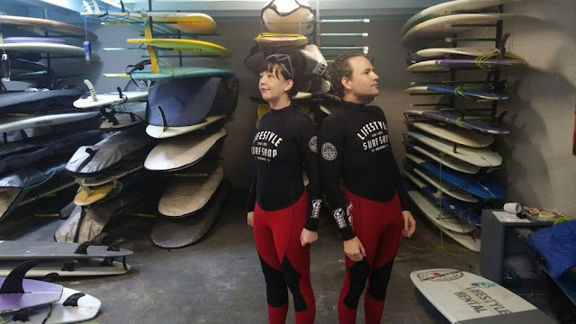 Matching wetsuits