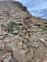 Cairn on Bald Mountain Hike by Mirror Lake in Uintas Kamas, Utah