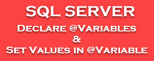 SQL Server - How to Declare Variables and Set Values in Variable