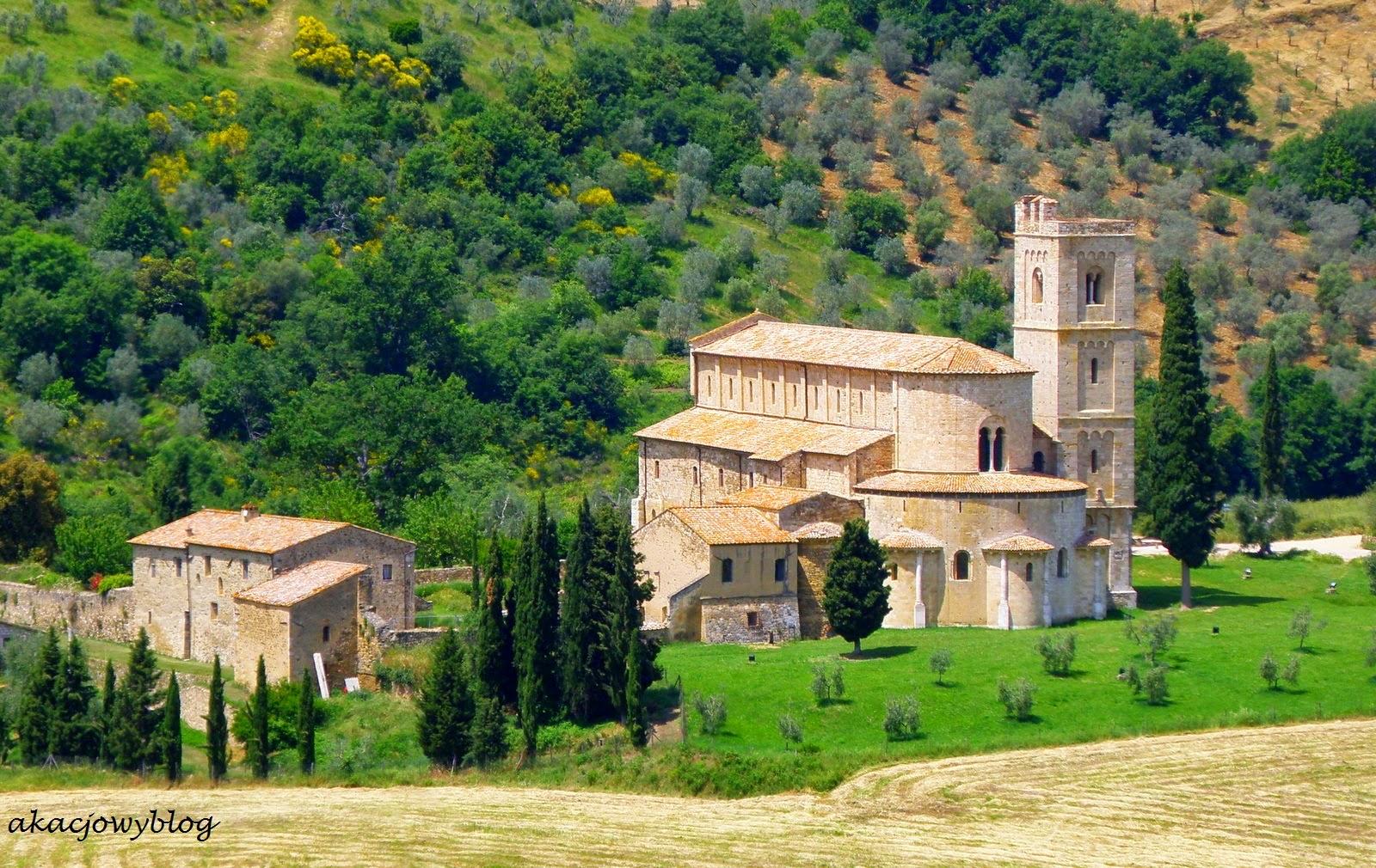 Toskania - Opactwo Sant'Antimo.