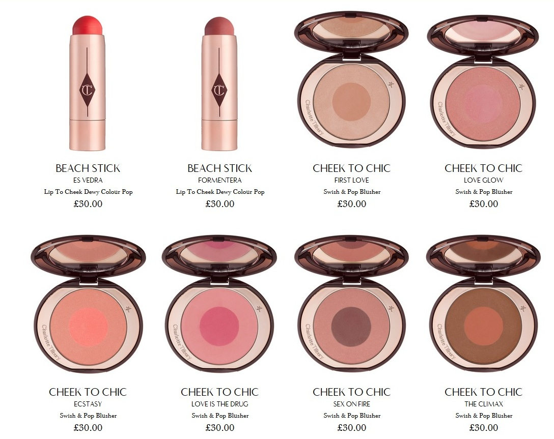"Румяна Charlotte Tilbury cheek to chic ""Ecstasy"""