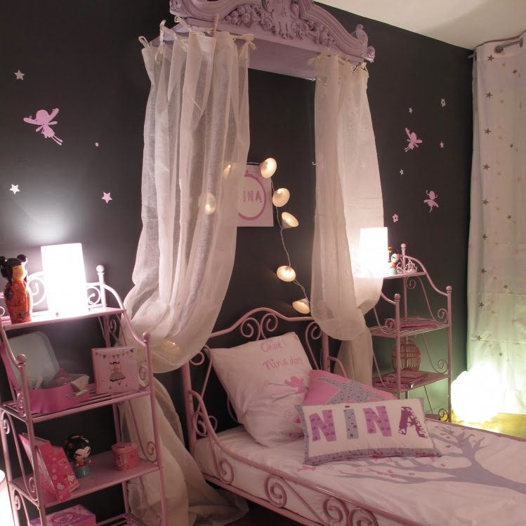chambre rose pale et noir. Black Bedroom Furniture Sets. Home Design Ideas