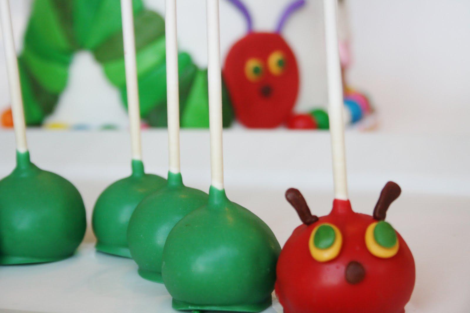 Hungry Little Caterpillar Cake Pops