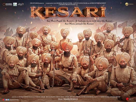 Kesari new upcoming movie first look, Poster of Akshay next movie download first look Poster, release date