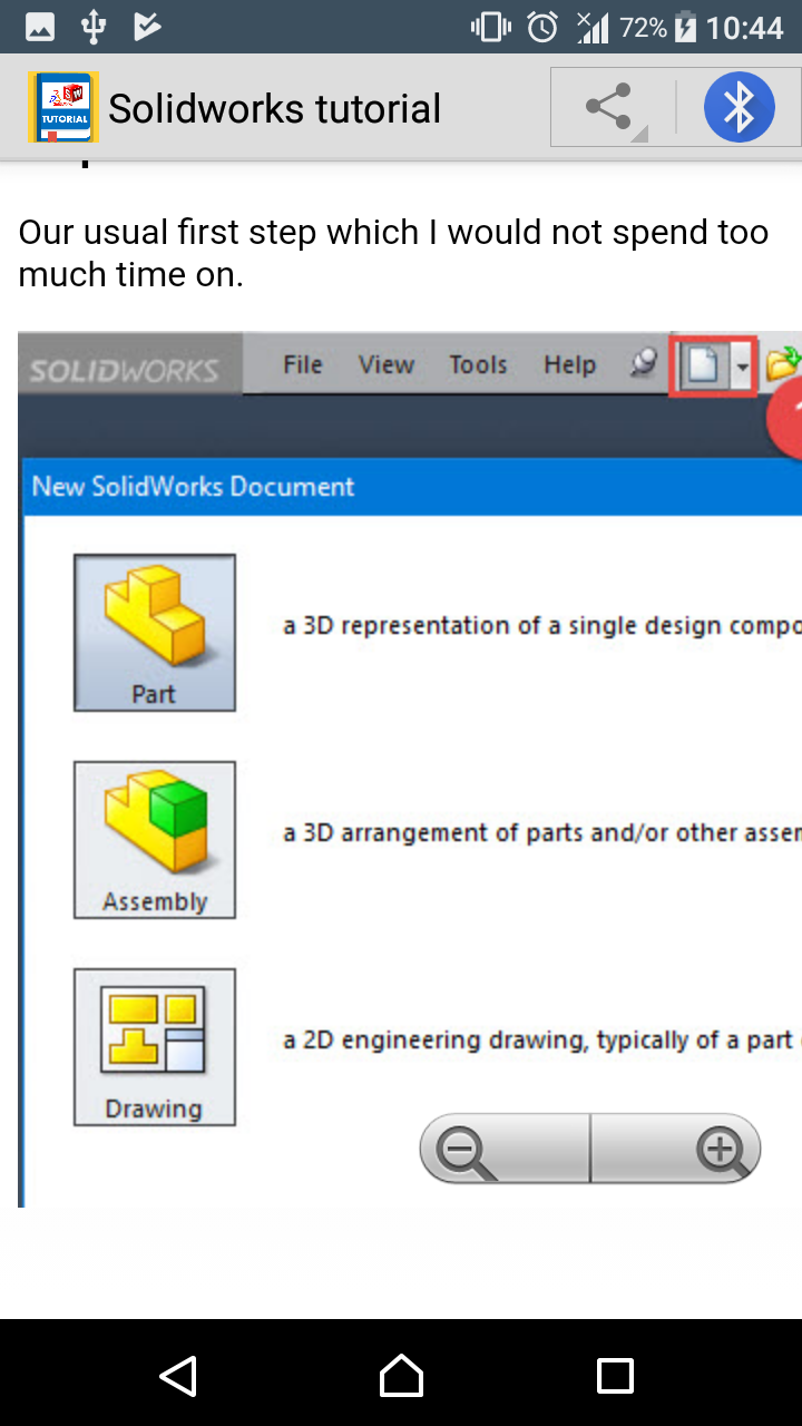 Guide to solidworks app ebook app learning solidworks tutorial circular pattern 9 solidworks tutorial how to mirror parts 10 solidworks tutorial using the loft command baditri Choice Image