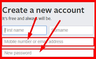 sign up facebook create new account