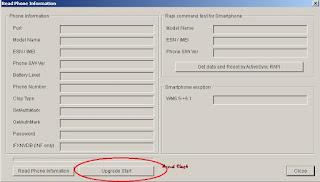 read phone information - flashing LG KDZ Firmware using R&D Test tool
