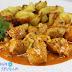 Solomillo de pavo o pollo adobado en salsa