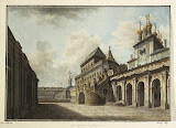 Boyar Ground in the Moscow Kremlin by Fyodor Alekseyev - Architecture, Landscape Drawings from Hermitage Museum