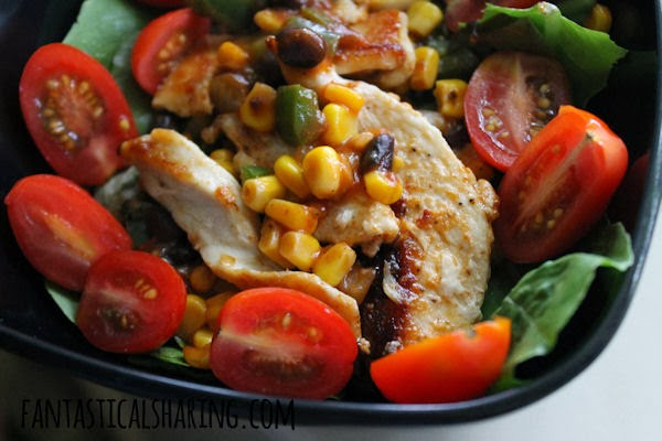 Chicken Fiesta Salad #recipe #salad #chicken