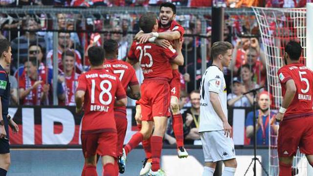 [Video] Cuplikan Gol Bayern Munchen 1-1 M.Gladbach (Liga Jerman)