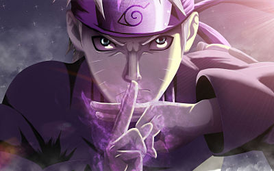 Naruto Uzumaki Purple Power - Fond d'écran en Full HD