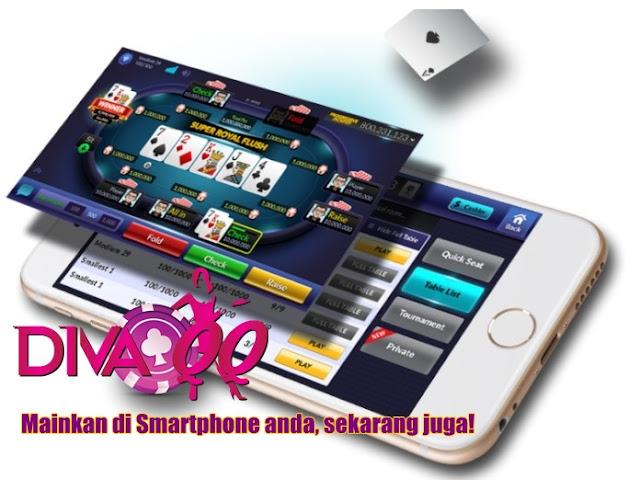 Cara Main Judi PokerQQ Melalui Android di DivaQQ