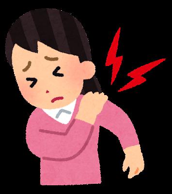 関節痛のイラスト(肩)