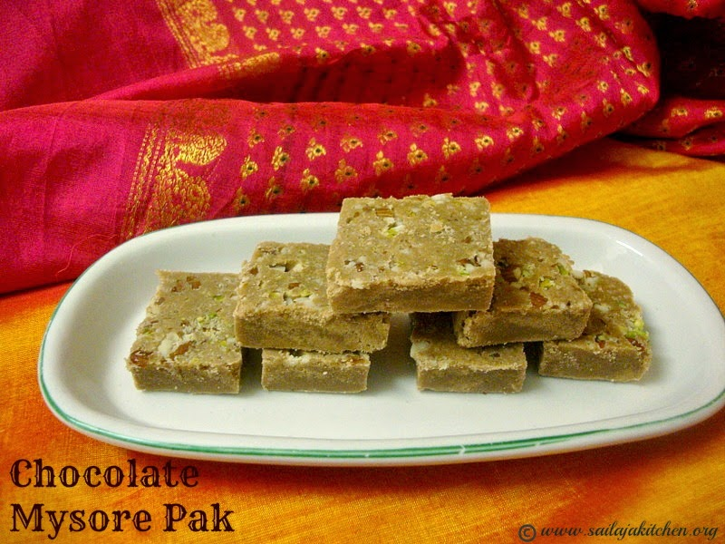 images for Chocolate Mysore Pak / Soft Chocolate Mysore Pak Recipe