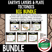 Earth's Layers and Plate Tectonics, EARTH SCIENCE MEGA BUNDLE, Earth Science Curriculum, Anchor Charts, Game Cards, Puzzles, Vocabulary Activities, Choice Boards, Digital Interactive Notebooks, Word Walls, Picture Puzzles, Test Prep