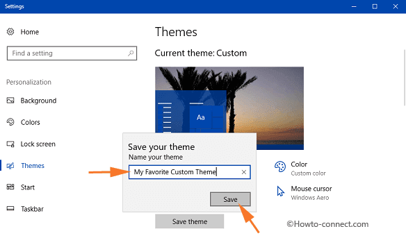 How to Save Custom Themes in Windows 10
