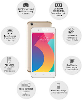 VIVO Y53i - Smartphones Under 10000 in India