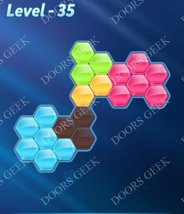 Block! Hexa Puzzle [Intermediate] Level 35 Solution, Cheats, Walkthrough for android, iphone, ipad, ipod