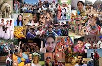 Bir çok farklı ulustan insan yüzlerinin olduğu bir resim