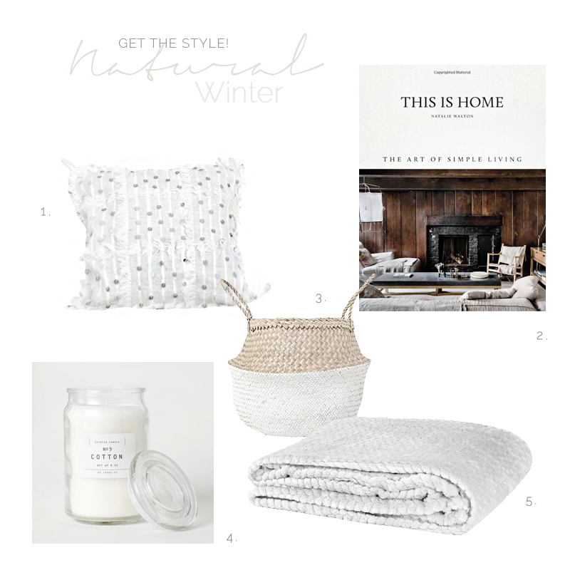 WHITE AND WOODEN DETAILS FOR A COZY WINTER / Detalles en blanco y madera para crear un espacio invernal acogedor