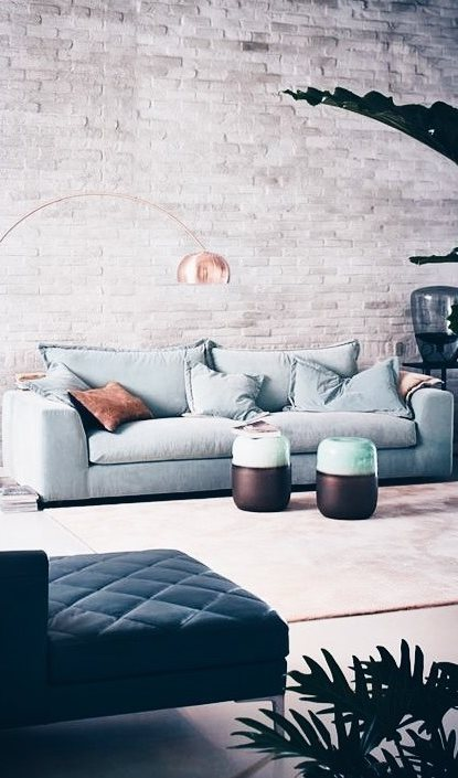 industrial living room desing idea