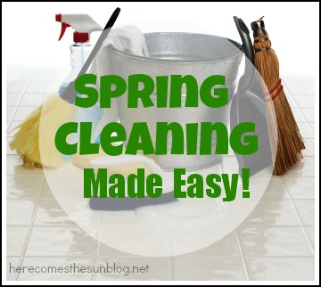 Complete list of Spring Cleaning Tasks with FREE printable via herecomesthesunblog.net