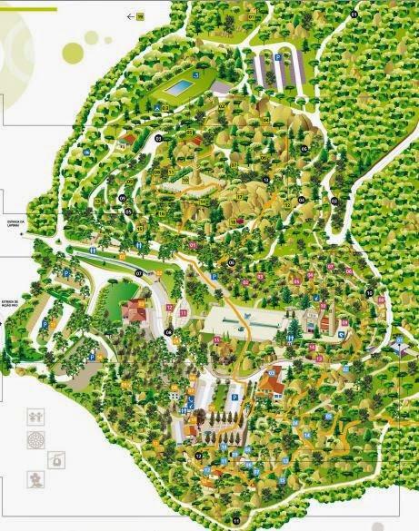 mapa del monte penha en portugal
