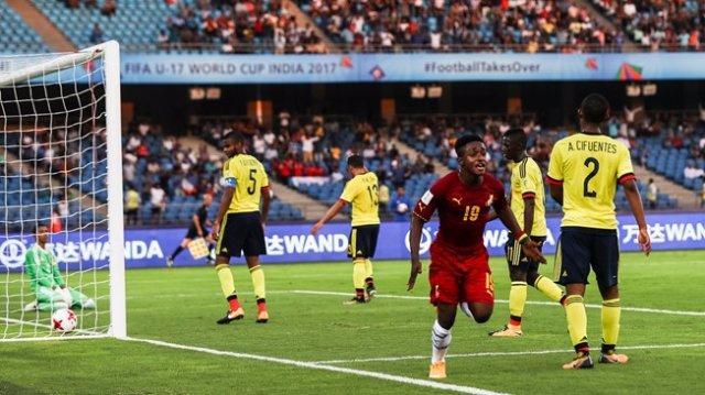 Ibrahim Sadiq celebrates winning goal