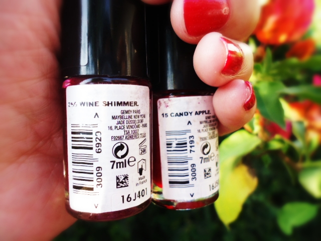 Maybelline ColoRama's Candy Apple & Wine Shimmer