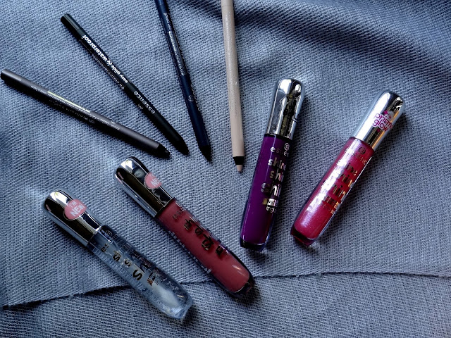 Essence Extreme Long Lasting Eye Pencils and Shine Shine Shine Lipgloss