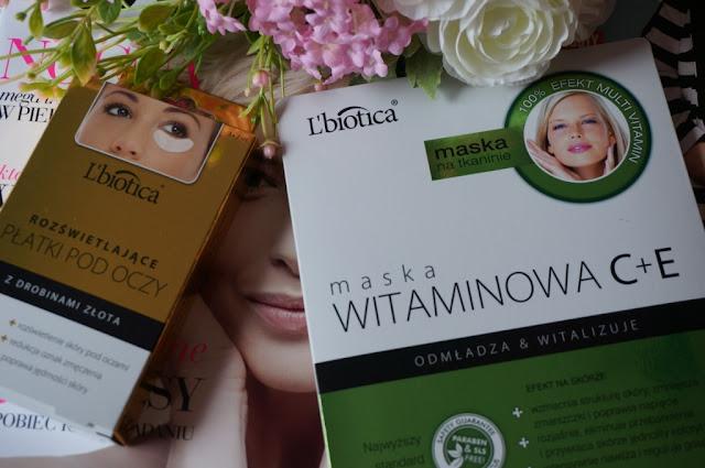 Promienna cera z witaminową maską i kolagenowymi płatkami L'biotica