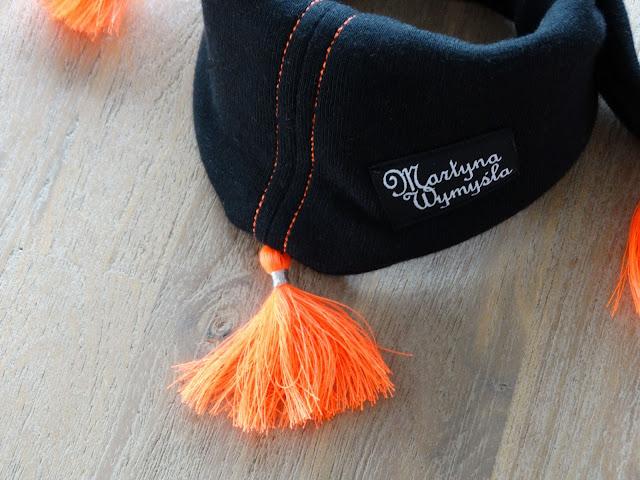 wiosenny zestaw czapka i chustka dla dziewczynki 2