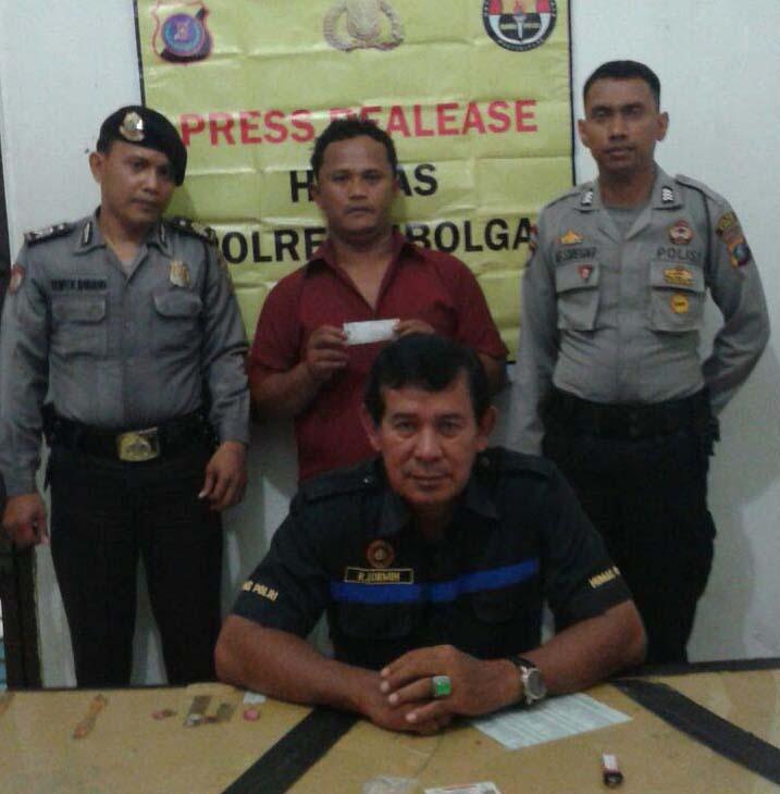 Polisi memaparkan penangkapan terhadap oknum PNS Pemko Sibolga yang bawa sabu.