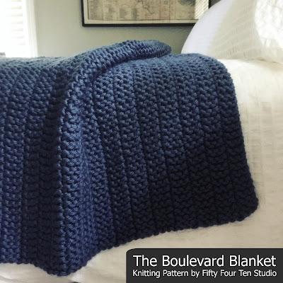 Fifty Four Ten Studio New Free Blanket Knitting Pattern Meadow Lane