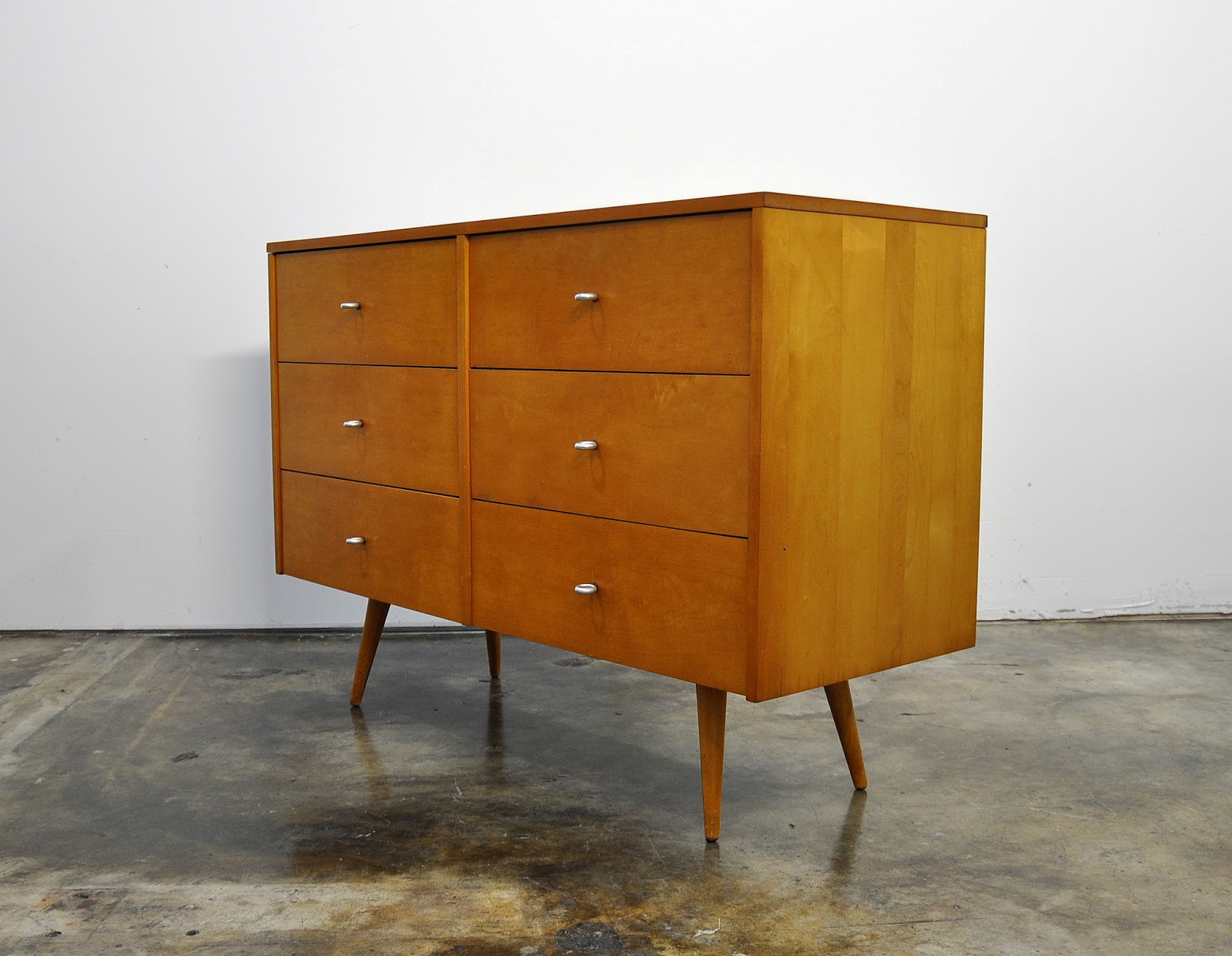 Select Modern Paul Mccobb Double Dresser