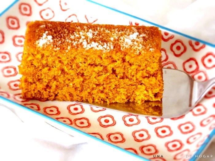 bizcocho de zanahoria en microondas- ración
