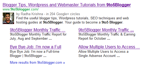 Google Authorship Markup for 9to5Blogger