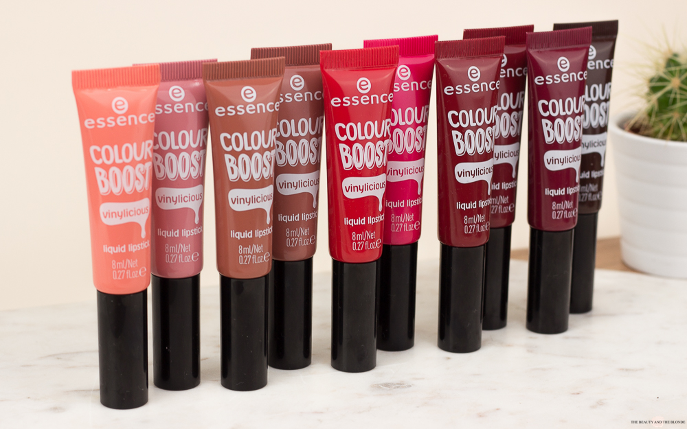 essence Update Frühjahr 2018 <br/> colour boost vinylicious liquid lipsticks